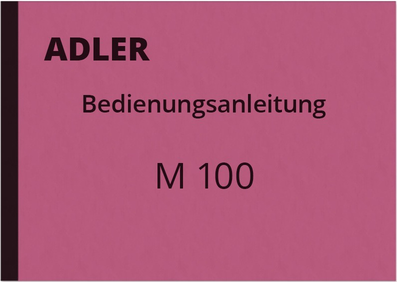 Adler M 100 User Manual