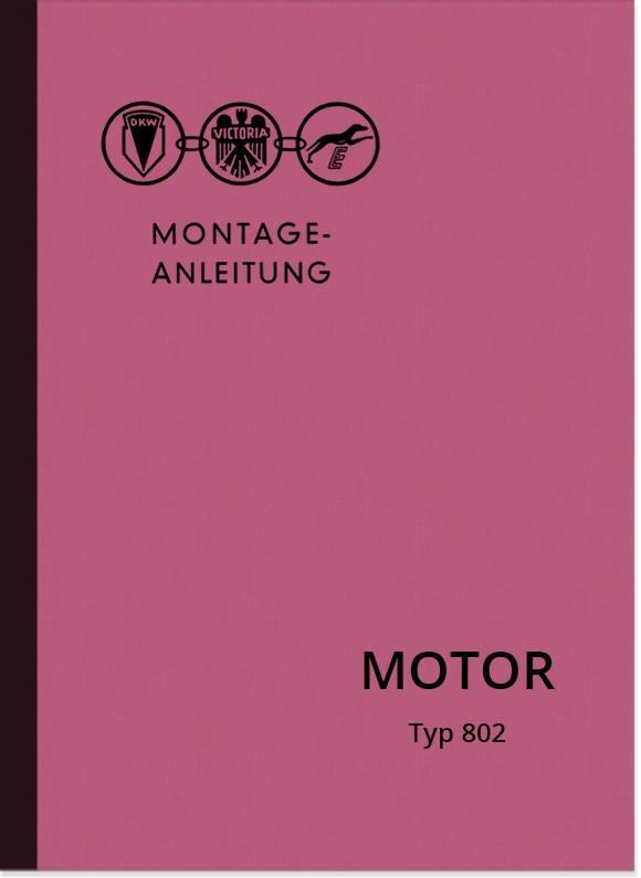 Zweirad Union Motor 802 50 ccm 4-speed and 5-speed repair manual