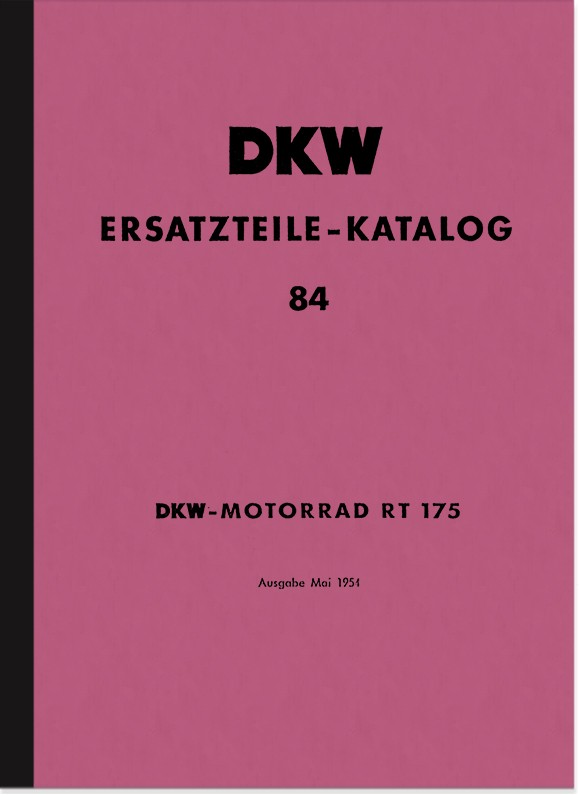 DKW RT 175 Spare Parts List Spare Parts Catalogue Parts Catalogue