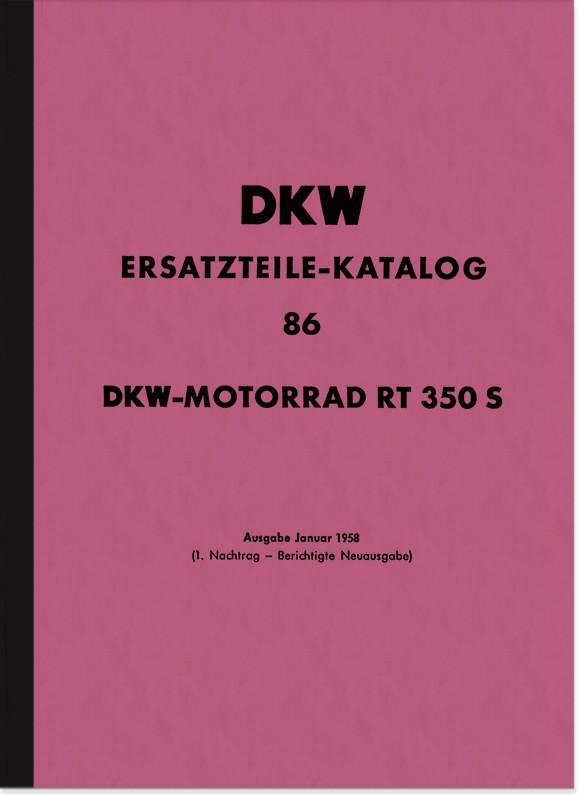 DKW RT 350 S Ersatzteilliste Ersatzteilkatalog Teilekatalog