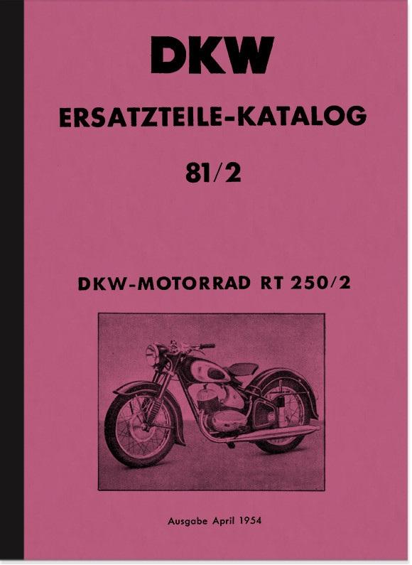 DKW RT 250/2 Ersatzteilliste Ersatzteilkatalog Teilekatalog