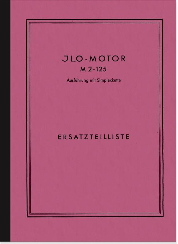 ILO M 2-125 Motor Ersatzteilliste Ersatzteilkatalog