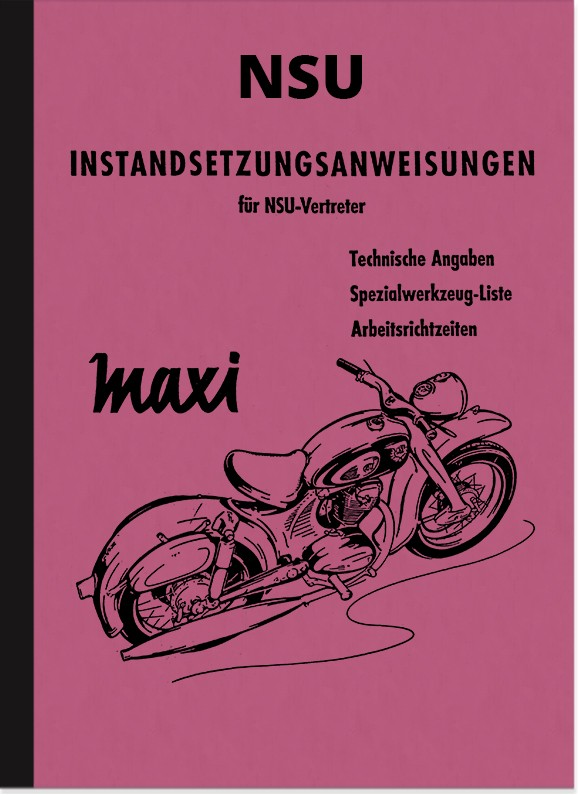 NSU Maxi Repair Manual Assembly Manual Workshop Manual