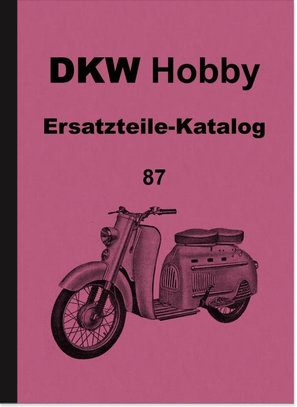 DKW Hobby Motorroller Ersatzteilliste Ersatzteilkatalog Teilekatalog