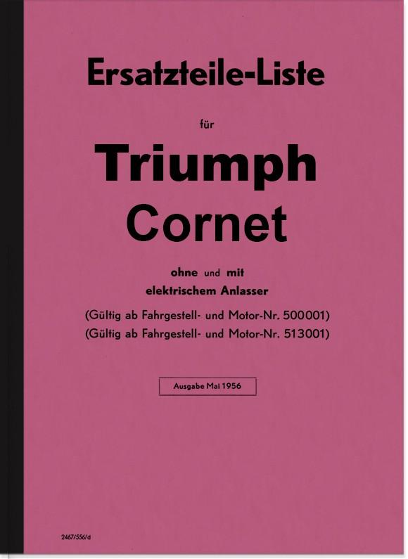 Triumph Cornet 200 ccm Ersatzteilliste Ersatzteilkatalog Teilekatalog