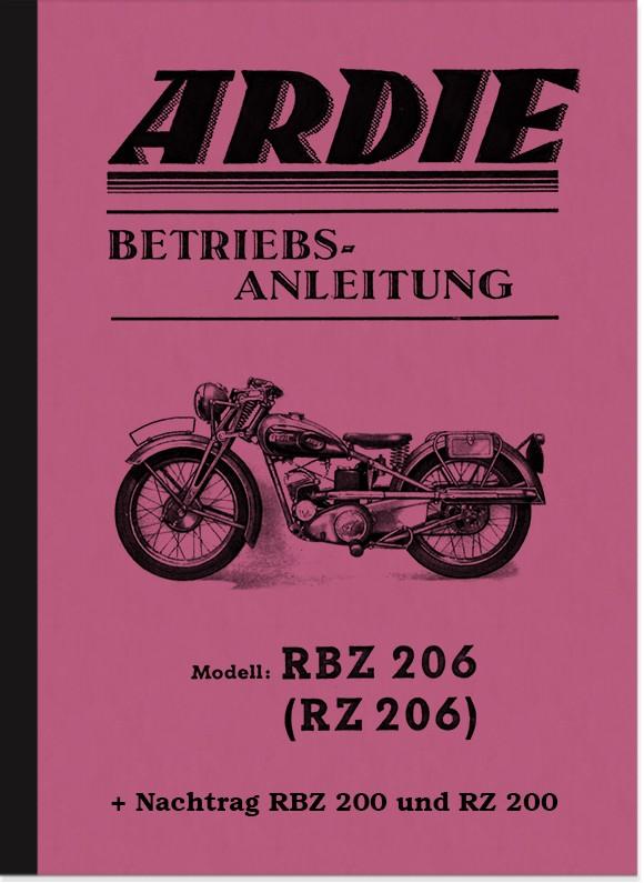 Ardie RBZ 200, RZ 200, RBZ 206 und RZ 206 Bedienungsanleitung