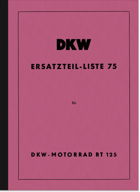 DKW RT 125 spare parts list spare parts catalog parts catalog