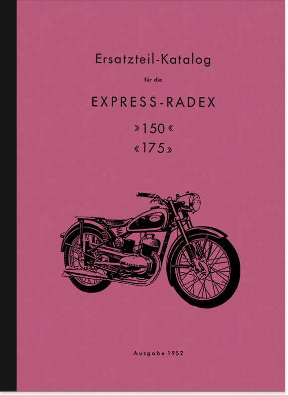 Express Radex 150 cc and 175 cc spare parts list spare parts catalog parts catalog