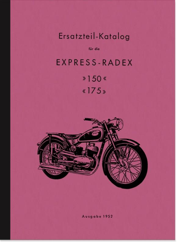 Express Radex 150 ccm und 175 ccm Ersatzteilliste Ersatzteilkatalog Teilekatalog