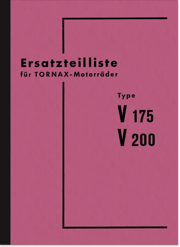 Tornax V 175 und V 200 Ersatzteilliste Ersatzteilkatalog Teilekatalog