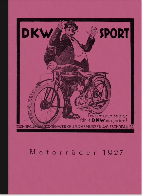DKW E 200, E 250 and Z 500 Brochure/Book Description Sidecar Models 1927