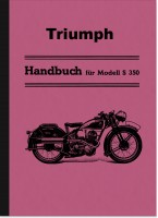Triumph S 350 1936 Operating Instructions S350 Operating Instructions Manual Sport