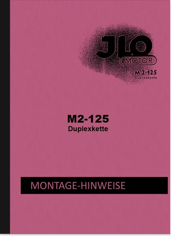 ILO M 2-125 Reparaturanleitung Montageanleitung Werkstatthandbuch Motor