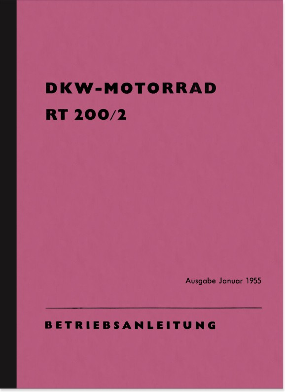 DKW RT 200/2 Operating Manual Operating Manual RT200/2