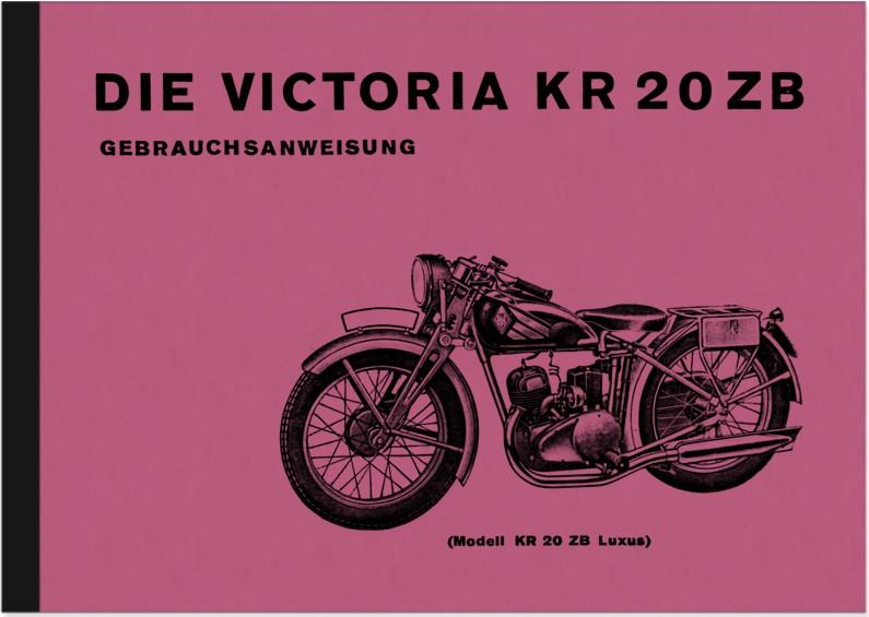 Victoria KR 20 ZB und KR20 Luxus Bedienungsanleitung Betriebsanleitung Handbuch