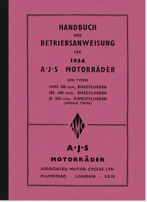 AJS 16 MS, 18 S and 20 Operating Manual (Spring-Twin) Manual Operating Manual