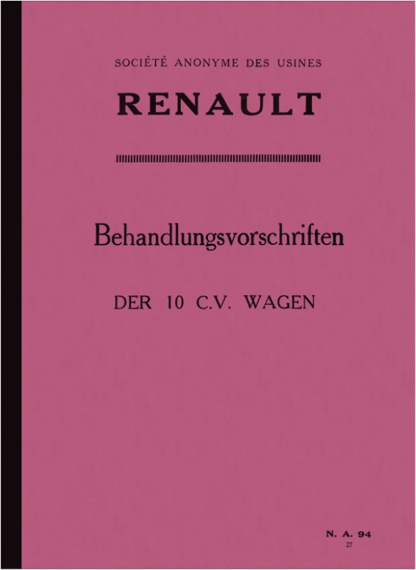 Renault 10 CV user manual