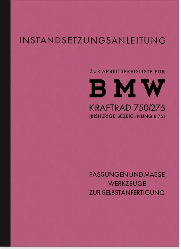 BMW R 75 WH 750/275 Beschreibung und Anleitung zur Selbstanfertigung der Spezialwerkzeuge