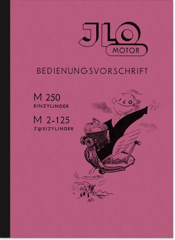 ILO M 250 und M 2-125 Motor Bedienungsanleitung Handbuch Betriebsanleitung
