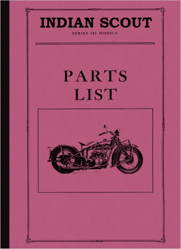 Indian Scout Series 101 spare parts list spare parts catalog parts catalog