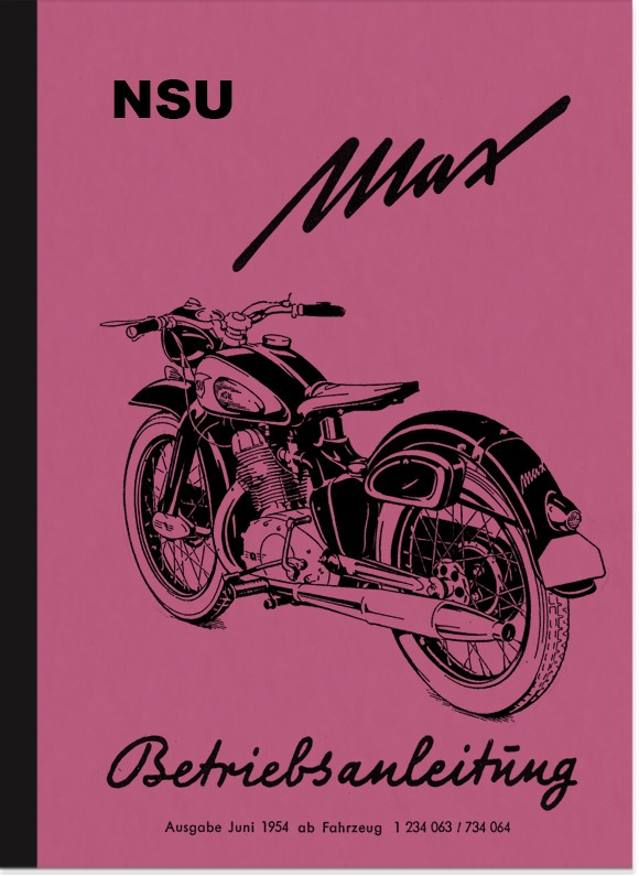 NSU Max Standard 1954 Operating Instructions Manual