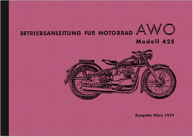 AWO 425 Bedienungsanleitung Handbuch Betriebsanleitung
