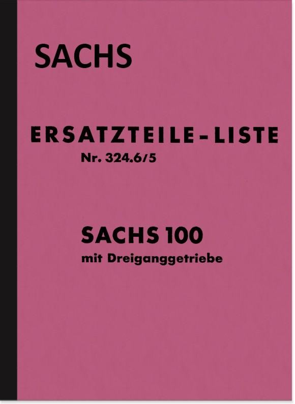 Sachs 100 ccm 3-Gang Motor Ersatzteilliste Ersatzteilkatalog