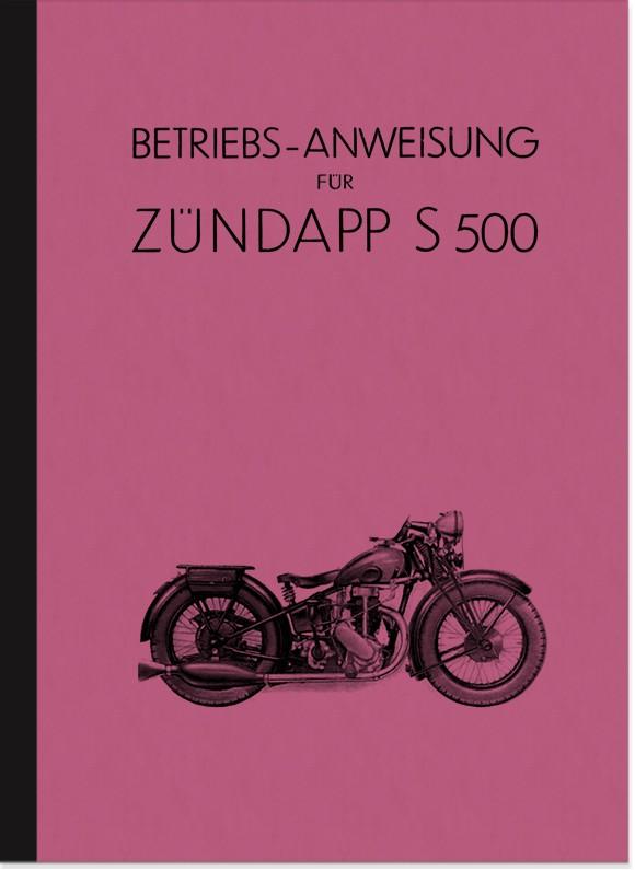 Zündapp S 500 Operating Instructions Manual Operating Instructions