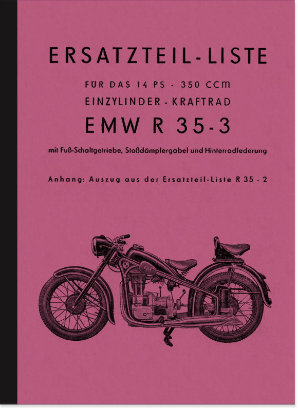EMW R 35/2 and R 35/3 spare parts list Spare parts catalog Parts catalog