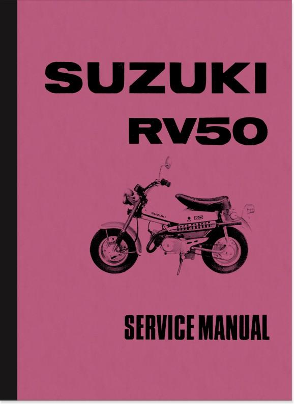 Suzuki RV 50 RV50 Reparaturanleitung Montageanleitung Werkstatthandbuch