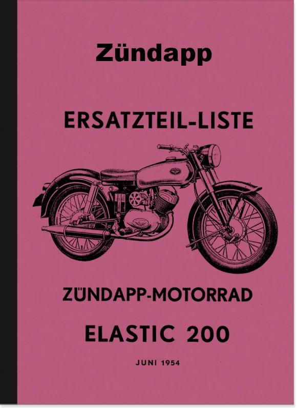Zündapp Elastic 200 spare parts list Spare parts catalog