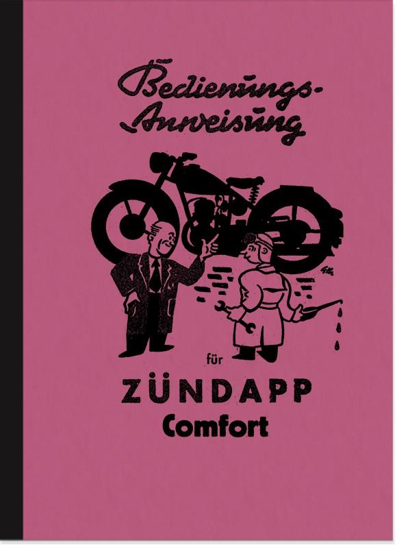 Zündapp Comfort 1953 Bedienungsanleitung Handbuch Betriebsanleitung