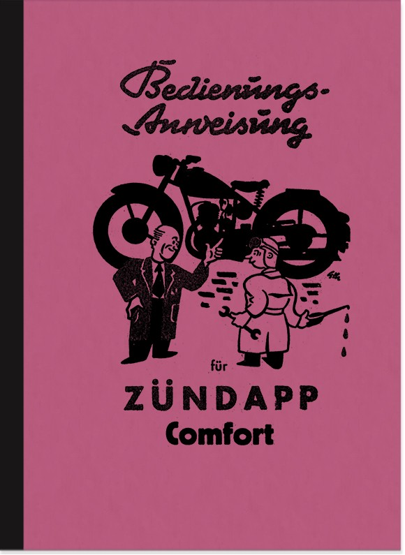 Zündapp Comfort 1953 Operating instructions Manual Operating instructions