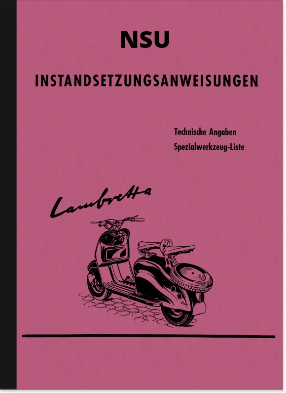 NSU Lambretta repair manual scooter assembly manual workshop manual