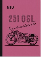 NSU 251 OSL spare parts list spare parts catalog parts catalog parts list