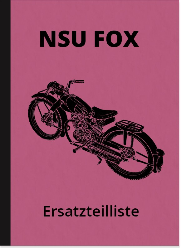 NSU Fox 4-stroke spare parts list spare parts catalog parts catalog