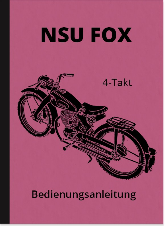 NSU Fox 4-stroke operating manual Operating manual