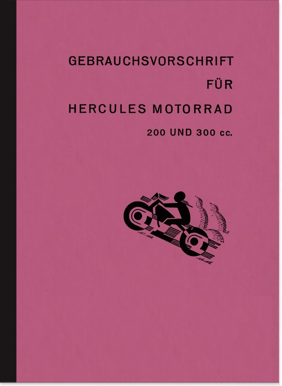 Hercules 200 and 300 cc operating instructions manual operating instructions