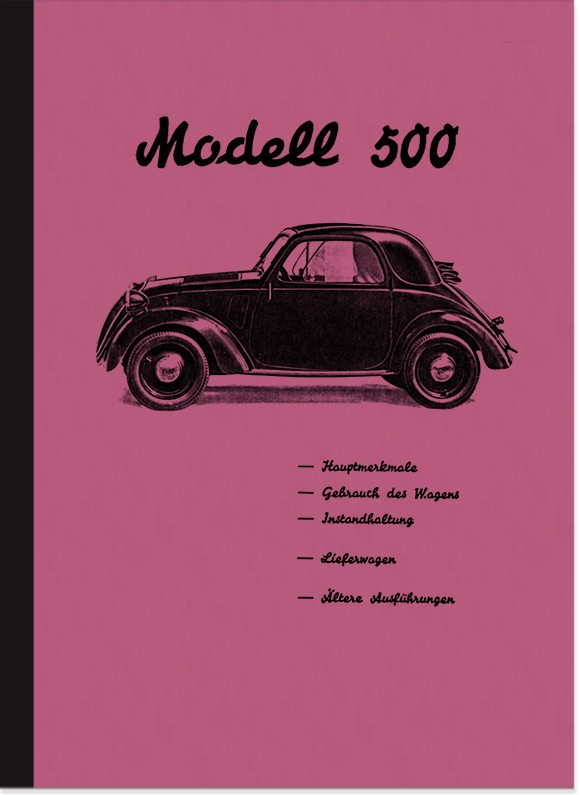 Fiat 500 Topolino Operating Instructions Manual Operating Instructions