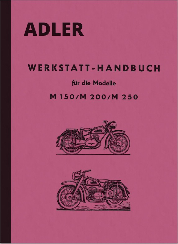 Adler M 150, M 200 and M 250 repair manual workshop manual assembly instructions
