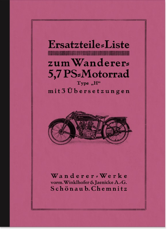Wanderer 5,7 PS 3-speed 1930 spare parts list spare parts catalog