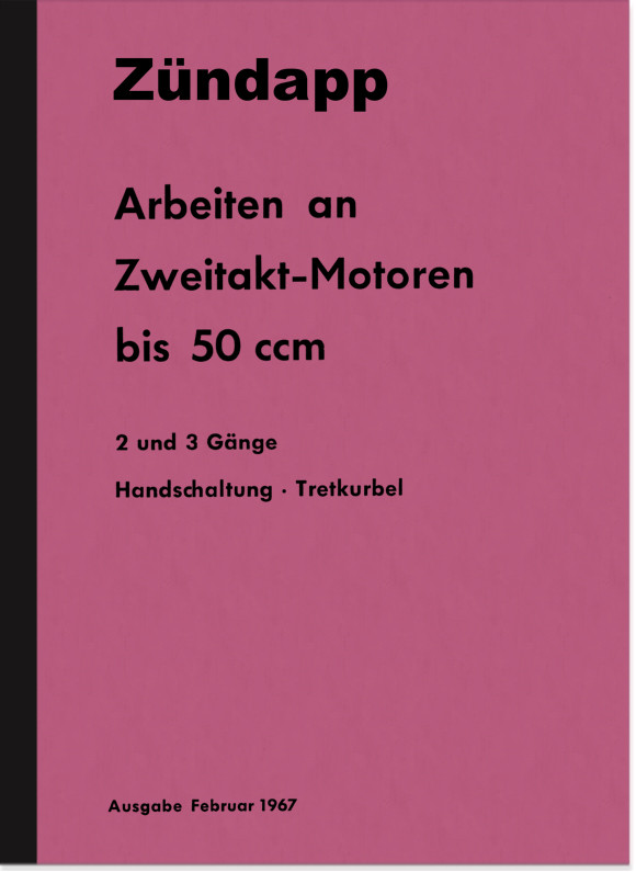 Zündapp Engine 50 ccm Type 265 266 405 412 Combinette Repair Manual Workshop Manual