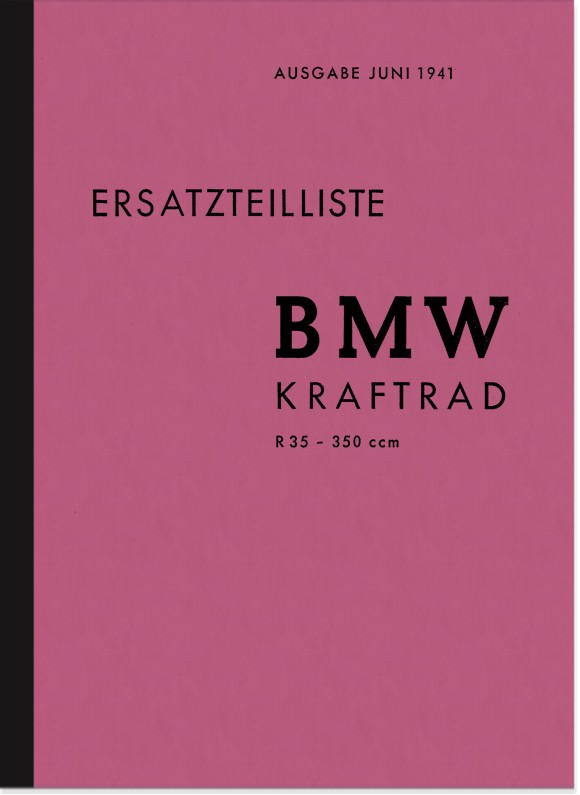 BMW R 35 spare parts list spare parts catalog parts catalog R35 motorcycle