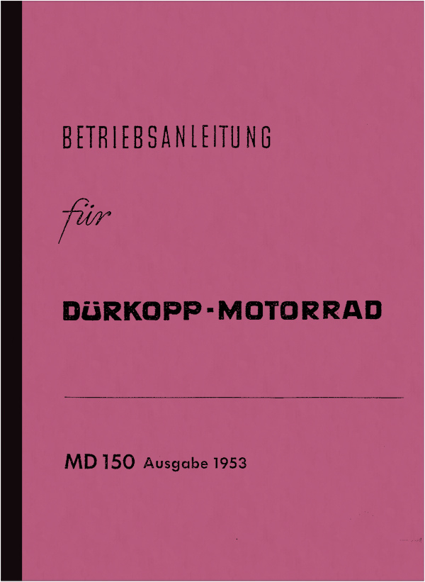 Dürkopp MD 150 operating instructions