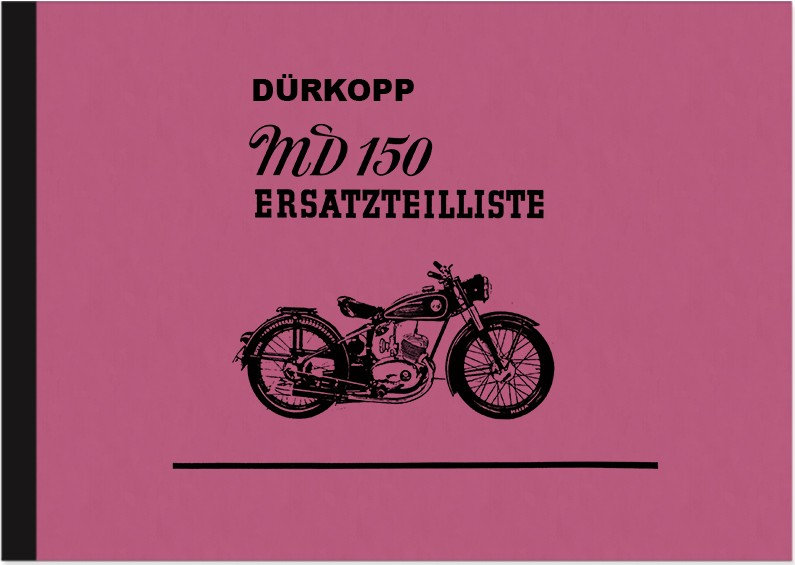 Dürkopp MD 150 spare parts list spare parts catalog parts catalog MD150