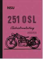 NSU 251 OSL Operating Instructions Manual Motorcycle Manual