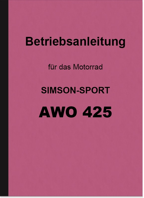 AWO 425 (Simson Sport) Operating Instructions Manual