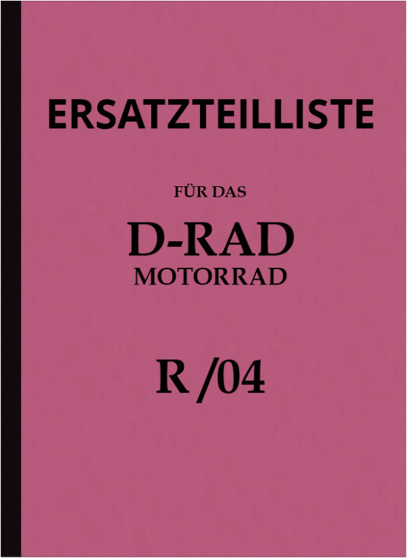 D-Rad R 0/4 motorcycle spare parts list spare parts catalog