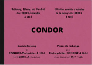 Condor A 580-I Operating Instructions and Spare Parts List Manual Operating Instructions Spare Parts