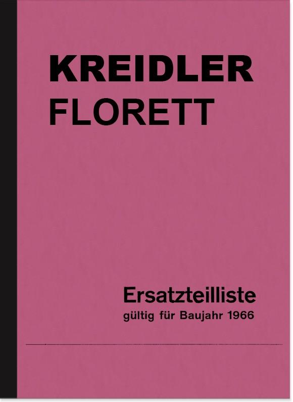 Kreidler Foil 3/4/5-gear spare parts list Spare parts catalog Parts catalog 1966